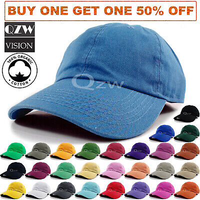 Cotton Ball Cap - Polo Style Baseball Cap Ball Dad Hat Adjustable Plain Solid Washed Cotton Mens