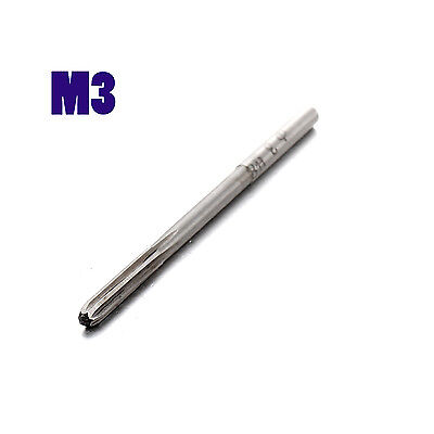 Metric H8 M3 Hand Reamers Straight 6 Fluted Shank 3mm For Stainless Steel Iron