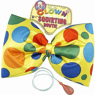 Jumbo Squirting Polka Dot Clown Bow Tie Bow Tie Jumbo Polka Dot