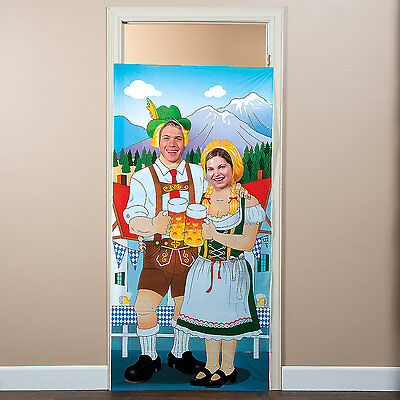 OKTOBERFEST Beer Festival Party COUPLE Photo Photograph Prop Door Banner