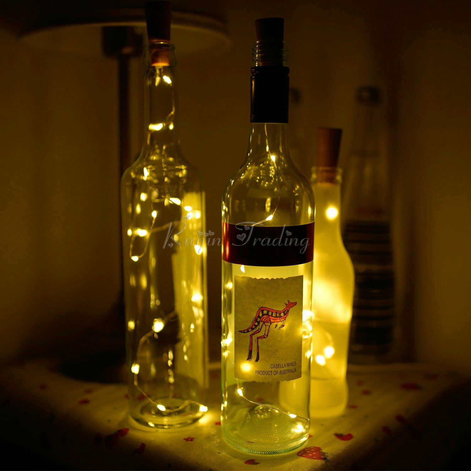 Cork Shaped 15 Led Night Light Starry Lights Wine Bottle
