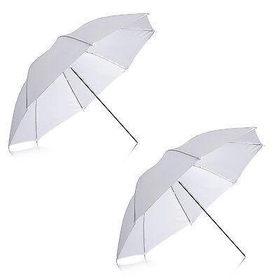 Neewer 2 pieces White Translucent Soft Umbrella for Photo Video Studio Shooting