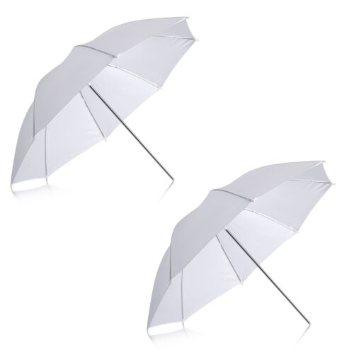 Neewer 2 pieces White Translucent Soft Umbrella for Photo Video Studio Shooting