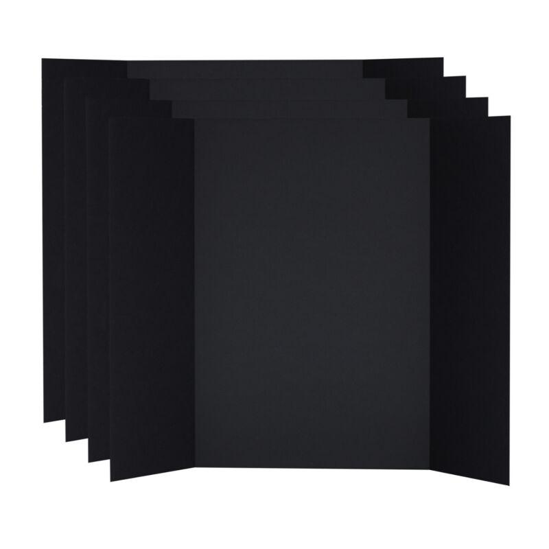 V-Flat World 48x36-inch Tri-Fold Foam Board (4-Pack, Black)