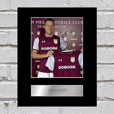 John Terry Signed Mounted Photo Display Aston Villa FC