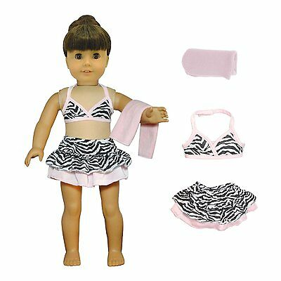 Doll Clothes Bikini Beach Outfit Fits American Girl & Other 18 Inch Dolls New