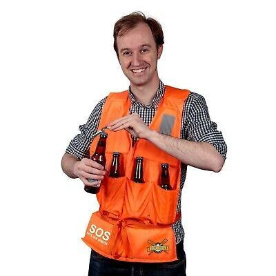 Scherzartikel Bier Rettungsweste mit Flaschenöffner Spaßartikel Gadget SOS