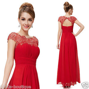 Long Maxi Evening Bridesmaid Formal Party Prom Dress Gown Size 8 -18 *UK SELLER*