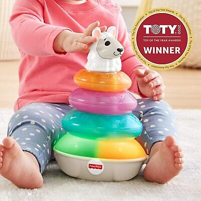 Fisher-Price Linkimals Lights & Colors Llama Stacking Kids Toddlers Game
