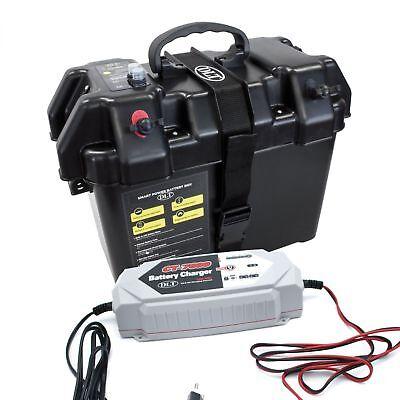 DLT Power Box Set mit 12V/24V Digital Ladegerät Batteriebox Batteriekasten 24v Power Box