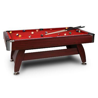 [B-WARE] 7ft Billardtisch Pool Billard Billiardtisch Poolbillard 7 Fuß Rot +