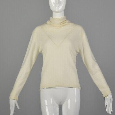 80s Sweatshirts, Sweaters, Vests | Women S 1980s Cream Sweater Cashmere Turtleneck Soft Cozy Winter Classic Style 80s VTG $102.00 AT vintagedancer.com