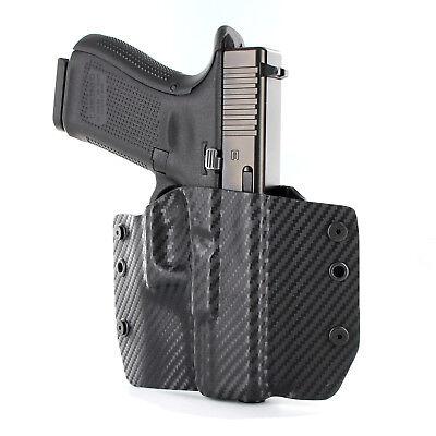OWB Kydex Holster for Glock Handguns - Black Carbon (Black Holster)