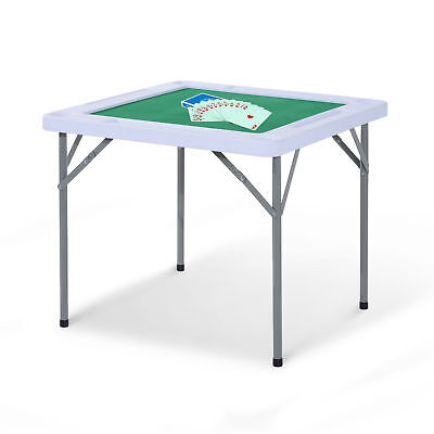 - HOMCOM Folding Card Table Mahjong w/ Cup Holders Outdoor Camping Portable