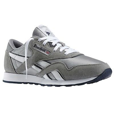 Reebok Classic Nylon Platinum/Jet Blue 36088 Mens Shoes
