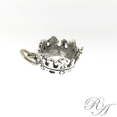 925 Sterling Silver Royaly Crown Charm Made in USA