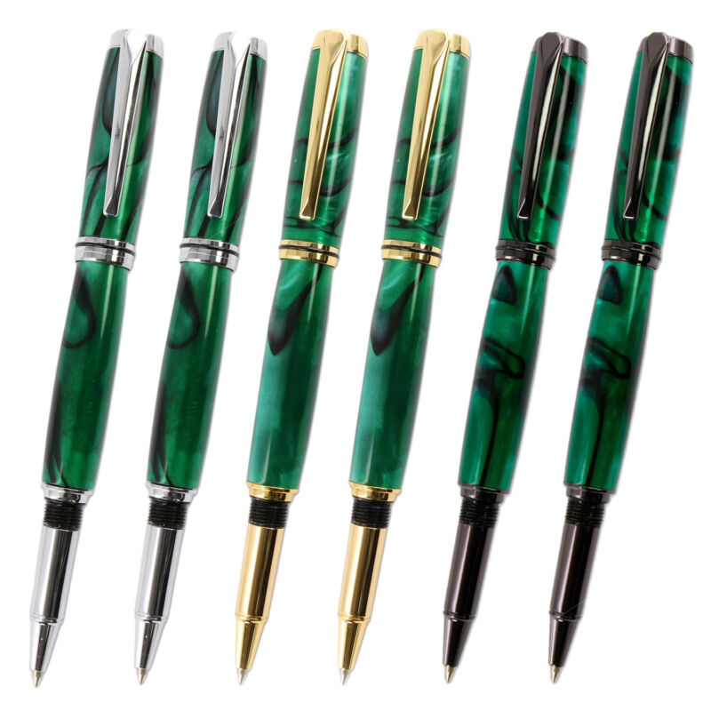 Upgraded Jr Gentleman Pen Kit 6 Piece Variety Pack, Legacy Woodturning