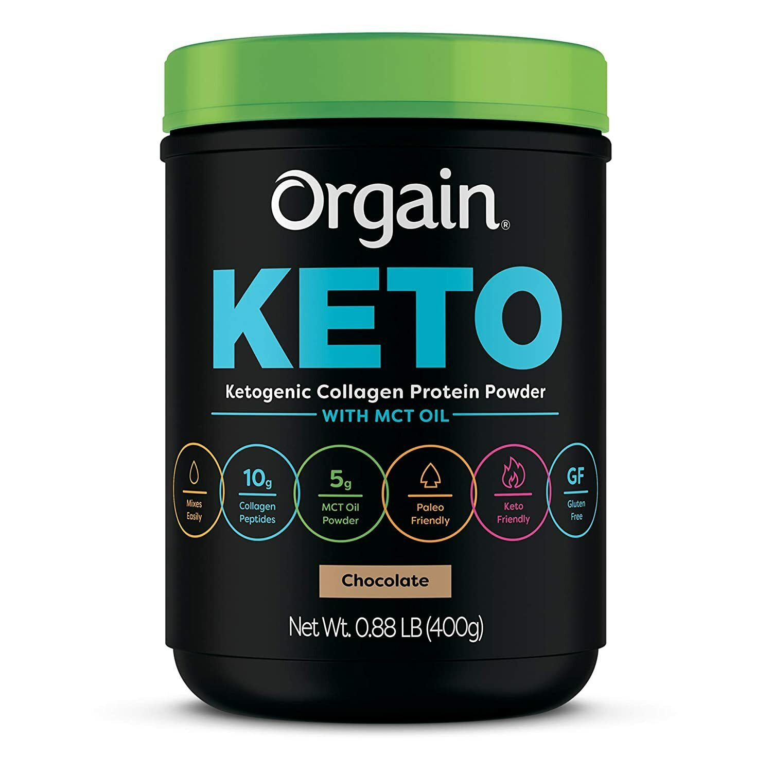 Orgain Keto Collagen Protein Powder with MCT Oil, Chocolate
