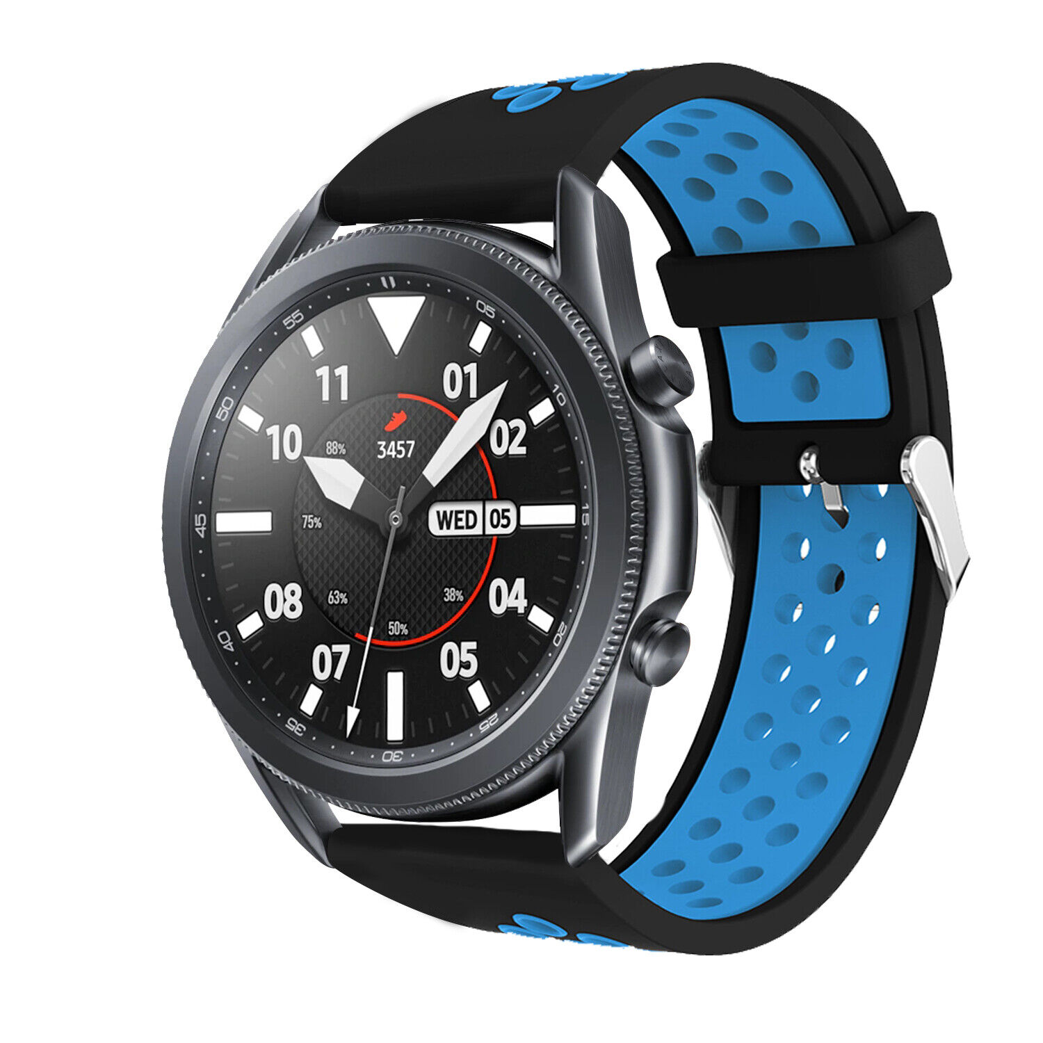 For Samsung Galaxy Watch 3 41mm 45mm Sport Soft Silicone Band Replacement Strap Jewelry & Watches