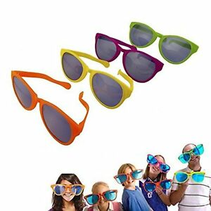 a4ae9f64da 12pk Jumbo Novelty Clown Sunglasses party Favors Concerts photo booth Props