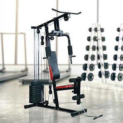 HOMCOM Fitnessstation Kraftstation Multigym Fitnesscenter Fitnessgerät Latzug