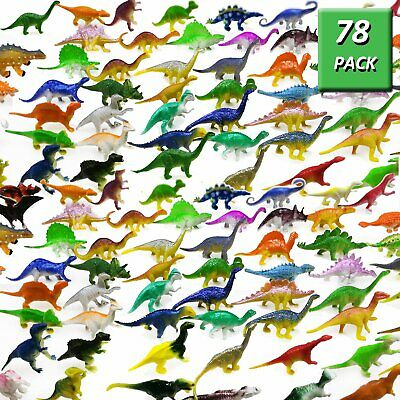 Dinosaur Figure Toys 78 Pack - Plastic Dinosaur Set for Kids Toddler Education - Dinosaurs Toys For Toddlers
