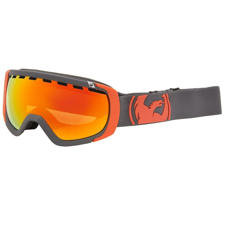 Dragon Rogue Goggles Winter Ski Snow Goggles Ionized Lens Pop Orange/Red Ionized