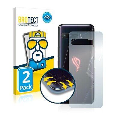 2x Cover Folie für Asus ROG Phone 3 ZS661KS (Rückseite) Edge Display Schutz