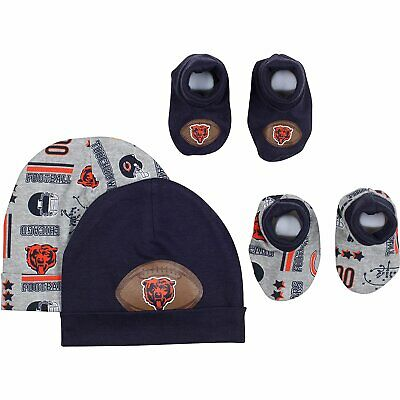 Gerber NFL Chicago Bears Baby Caps and Booties Set, 0-6 -
