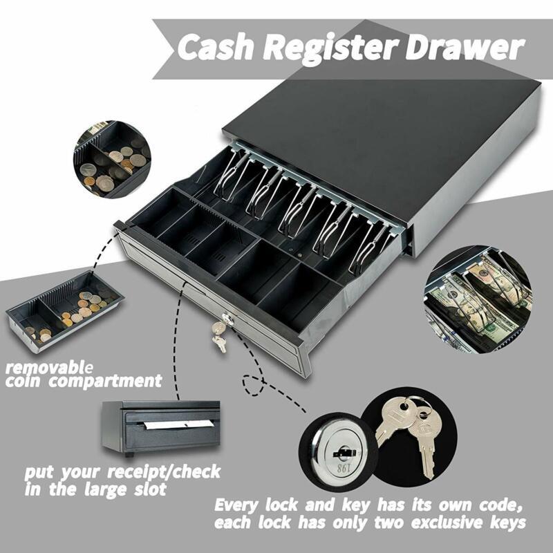 "16"" Money Box 5 Bill 5 Coin Cash Register Drawer Tray Epson/Star POS Machine"