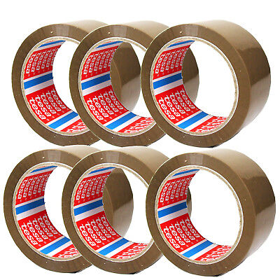 6 Roll Tesa Brown Adhesive Tape Packing Packaging 216 6/12ft x 1 31/32in