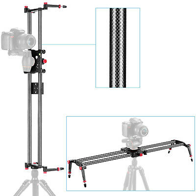 Neewer 31.5 80cm Carbon Fibre Camera Track Dolly Slider Rail