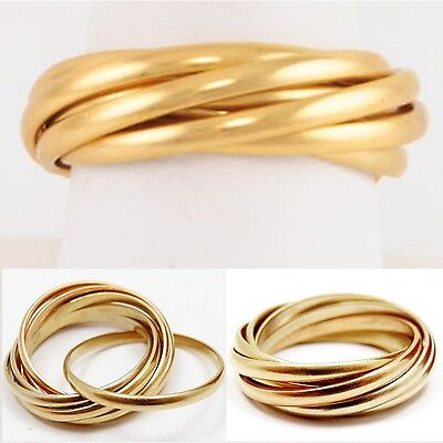 Color Rolling Band (AUTHENTIC 7 BAND ROLLING RING  Soft Gold Color 14kgep NEW)