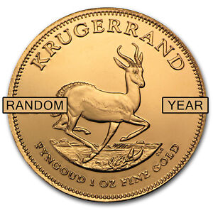 1 Oz Gold South African Krugerrand Coin Random Year Sku 85815