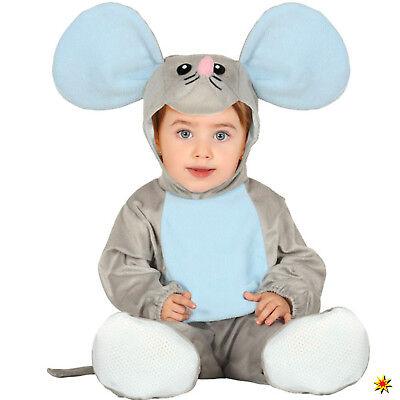 Baby Kostüm Maus Fips Gr. 68-92 Kleinkind Tier Fasching Karneval