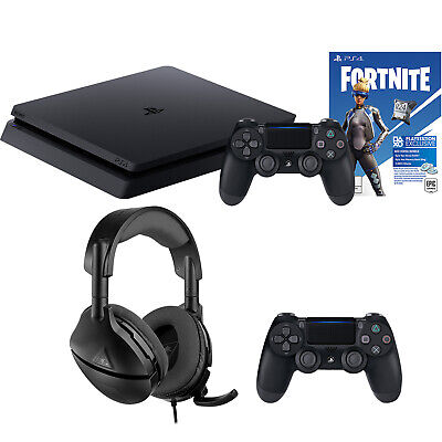 PS4 Slim Fortnite Second Controller and Headset Bundle [Brand New]
