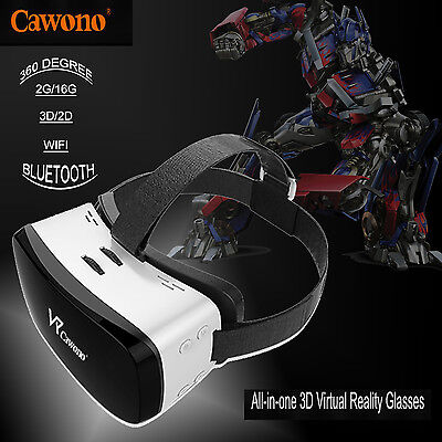 Cawono H8 16G 3D Wifi All-in-one Virtual Reality Headset  VR Glasses Game Movie