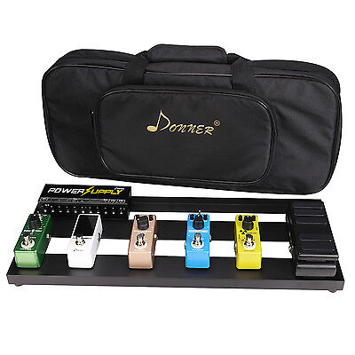 Donner Guitar Pedal Board Case DB-2 Aluminium Pedalboard with Bag US Stock