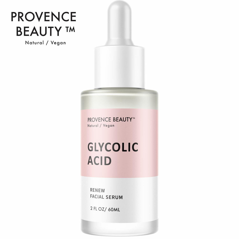 Provence Beauty Instant Renew Glycolic Acid Facial Serum Anti Aging 2oz