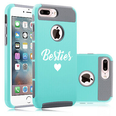 For Apple iPhone Protective Shockproof Impact Hard Soft Case Besties Best
