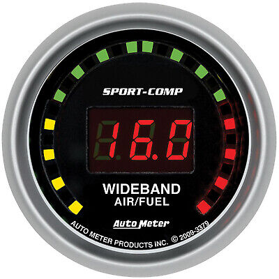 Autometer AMT-3379 Gauge, Sport-Comp, AIR/FUEL RATIO-WIDEBAND, STREET, 2 1/16 in