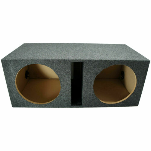 "Car Audio Dual 12"" Vented Subwoofer Stereo Sub Box Ported Enclosure Speaker"