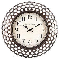 10025330 Geneva Clock Company 16 Plastic Antique Copper Style Analog Wall Clock