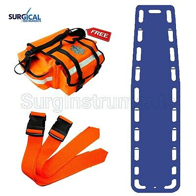 Blue Emt Backboard Spine Board Stretcher Immobilization - Free Emt Trauma Bag