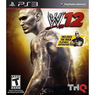 WWE 12 w/ THE ROCK Playable Character PS3 NEW SEALED, used for sale  Shipping to India