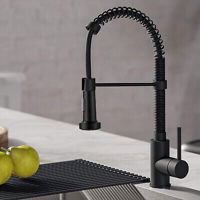 Matte Black Kitchen Sink Faucet Pull Down Kitchen Faucet Single Handle Mixer Tap
