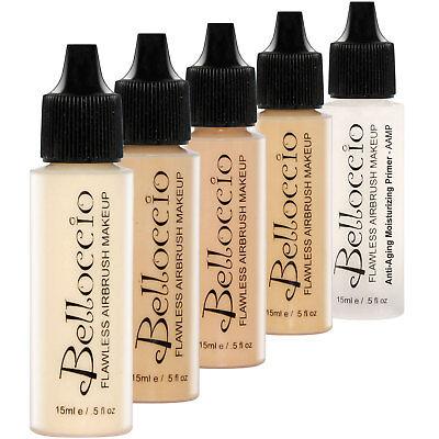 - Belloccio FAIR Airbrush Makeup FOUNDATION SET Light Shade Tone Face Cosmetic Kit