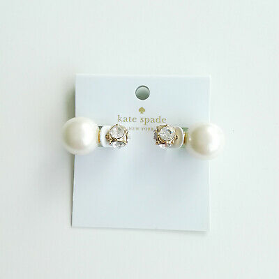 Kate spade New York dainty sparklers reversible earrings, white faux pearl
