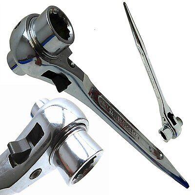 Scaffold Spanner Steel Erect Ratchet Podger 17mm x 19mm nickel finish