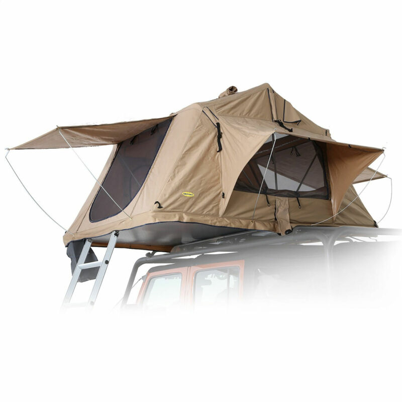 Smittybilt Overlander Roof Top Camping Tent with Ladder (Open Box)